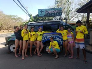 Frijoles Locos Playa Grande Costa Rica Group Surf Lesson