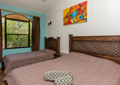 Frijoles Locos Apartments Double Bedroom